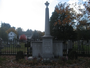 Grave of Franklin Pierce, 14th President of the US, in Concord, NH