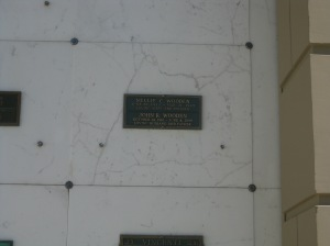 Crypt of John Wooden @ Forest Lawn, Hollywood Hills