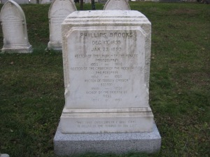 Tombstone of Phillips Brooks, Cambridge, Massachusetts