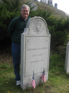 Grave of former US President Calvin Coolidge in Vermont