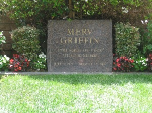 Grave of American TV talk show host Merv Griffin