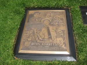 Grave of Don Knotts @ Westwood Memorial Park in California