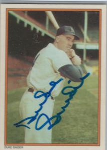 Duke Snider Signed Card