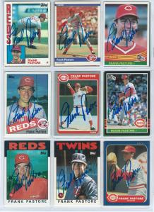 Frank Pastore Signed Cards