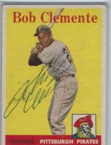 Roberto Clemente Signed Card