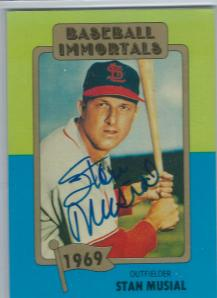 Stan Musial Signed Card