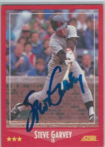 Steve Garvey Signed Card