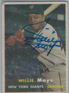 Willie Mays Signed 1957 Topps