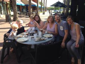 At Corner Bakery in Irvine Celebrating Kim's 60th Birthday