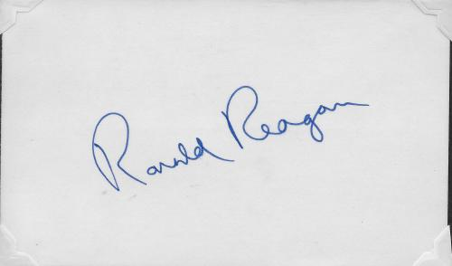 Ronald Reagan Signature 001