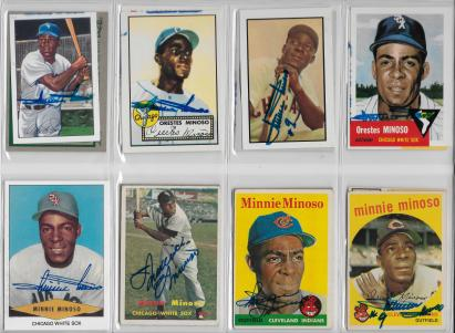 Minnie Minoso Signed Cards 2 001